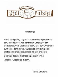 Transport restauracja Stół Polski