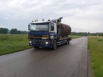 Transport Hds Metalowego Zbiornika - TRAGER